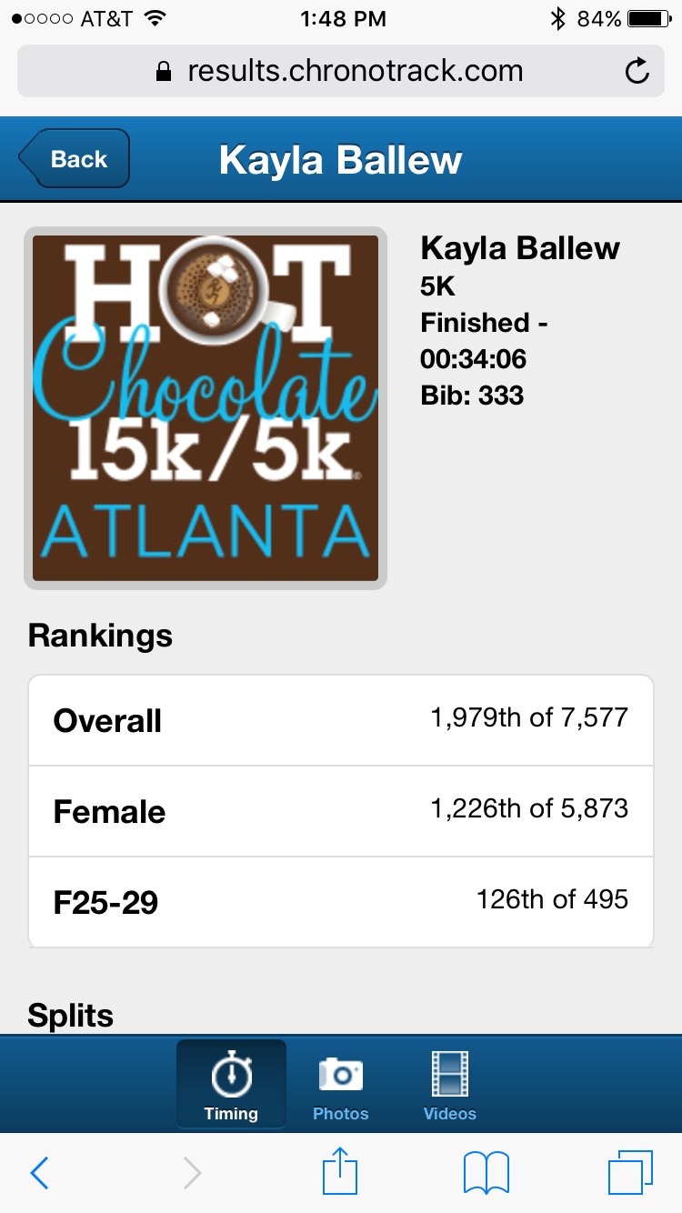 Hot Chocolate Atlanta-5K – Queen Beast Fitness